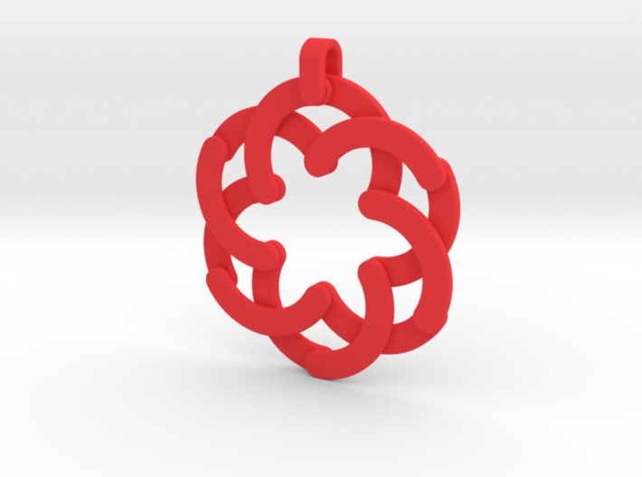 Expandable Flower Pendant/Keychain 3d printed
