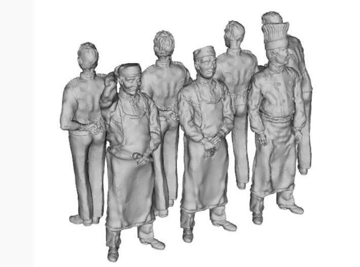 1-24 Cookers & Waiters 3d printed