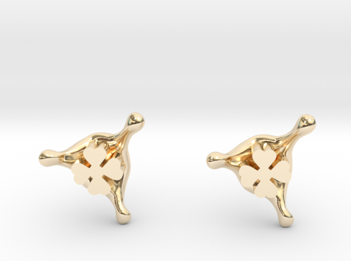 LuckySplash stud earrings 3d printed