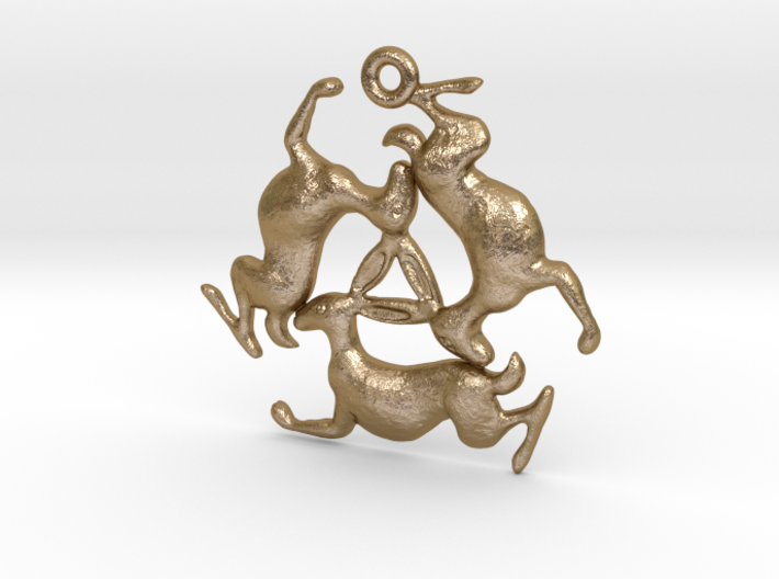 Three Hares Pendant 3d printed