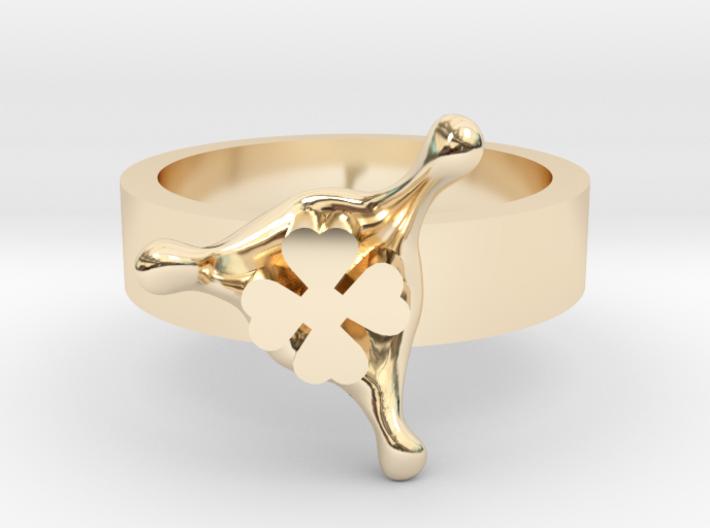 LuckySplash ring size 8 U.S. 3d printed