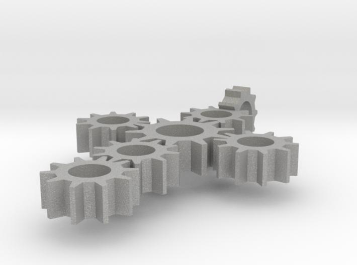 Steampunk Gear Cross - Static 3d printed