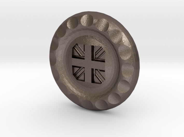 Golf Ball Marker UK Flag 3d printed