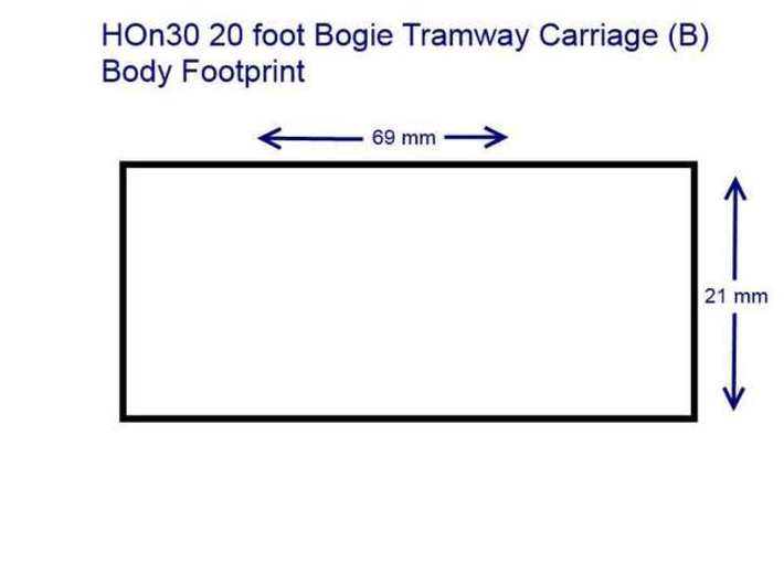HOn30 20 foot Bogie Tramway Carriage (A) 3d printed