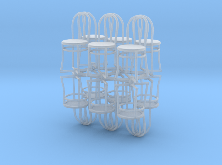 Bistro / Cafe Chairs in 1/32 scale. 12 per pack 3d printed