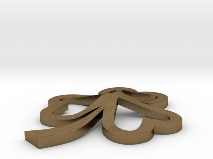 Heart Shamrock Pendant 3d printed