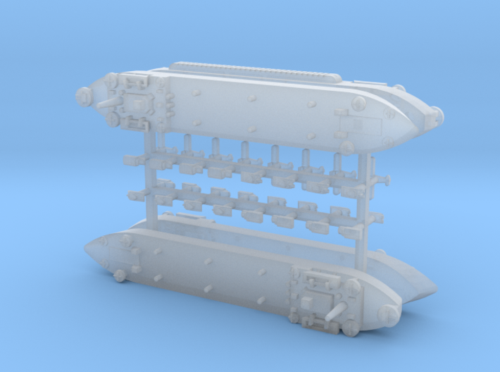 LST-906 LST-542 Landing Ship Tank 1/2400 3d printed