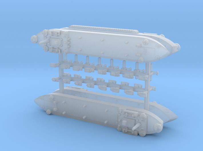 LST-906 & 3 x LST 542 Type LST 1/1800 3d printed