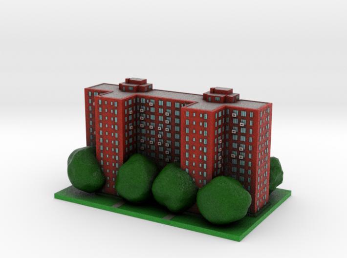 Stuyvesant Town Building 8 x 4 3d printed