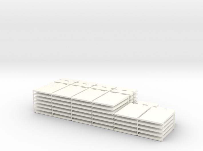 1/87 HO Fahrsilo-Wandelemente 3,5m - 2x 42,75m 3d printed