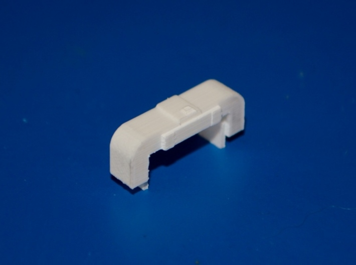 N-Scale Horst Airfilter 3d printed Unpainted Production Photo - Front Oblique