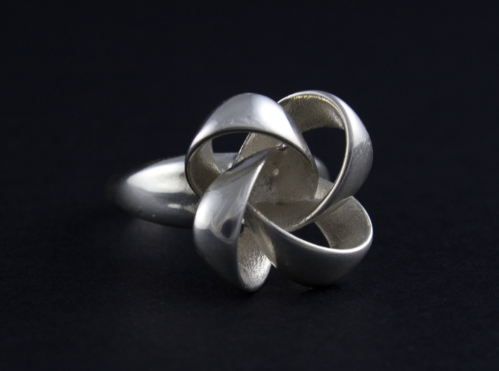 KNOT RING size 6 3d printed