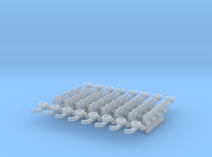 1/87 Lampenbügel 4er mit Rundumleuchtenhalter 3d printed