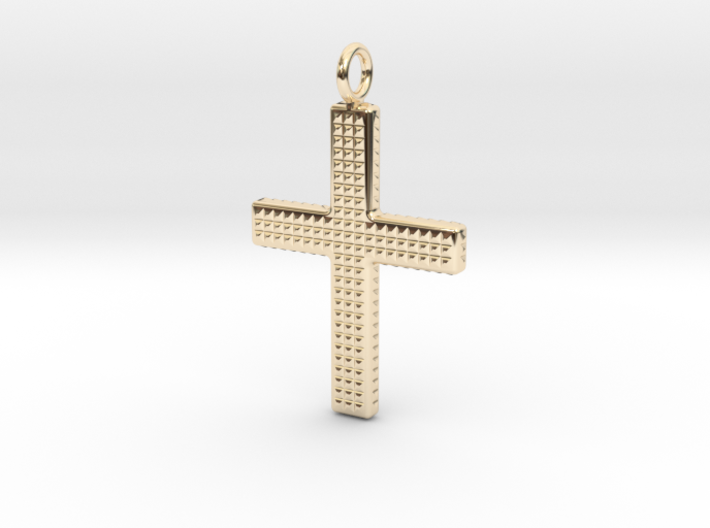 Cross pendant 3d printed