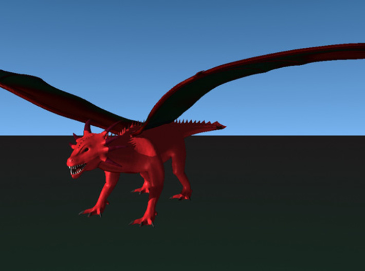 Red Dragon 3d printed A rendering of this dragon