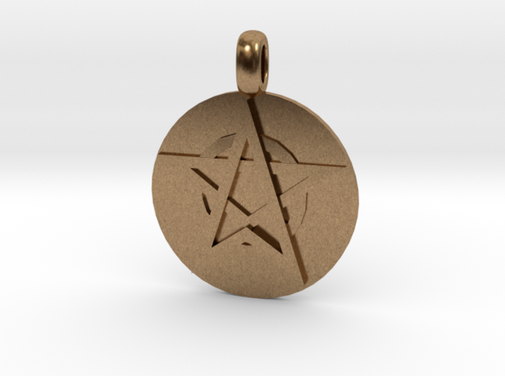 WITCH TALISMAN Amulet Jewelry symbol 3d printed