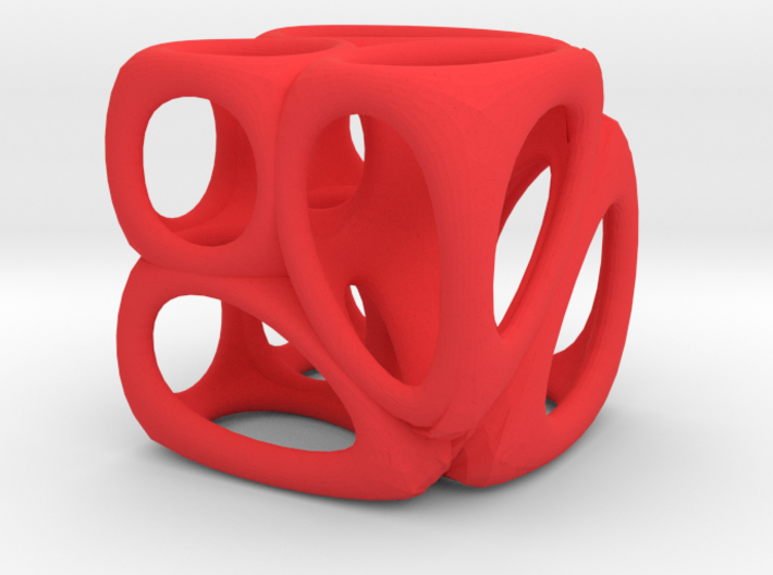 Voronoi Cube (001) 3d printed Cube Dimensions are approx. 55mm x 55mm x 55mm.