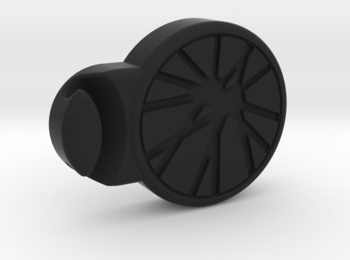 Cycling Stripes cycling clips 3d printed Black bike clip