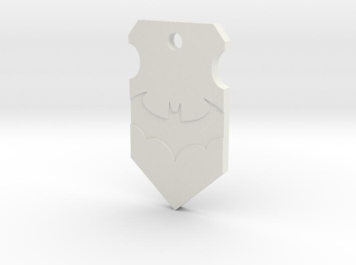 Caped Crusader Shield Pendant 3d printed