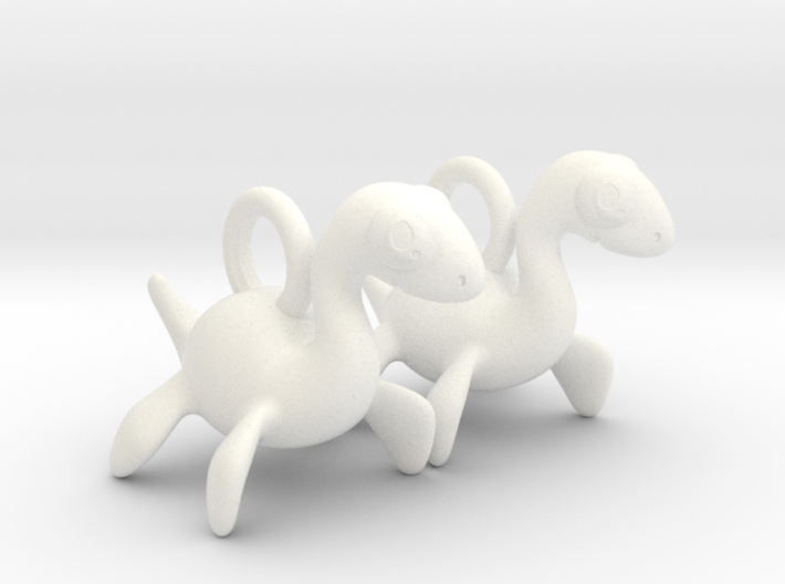 Nessie Earrings 3d printed