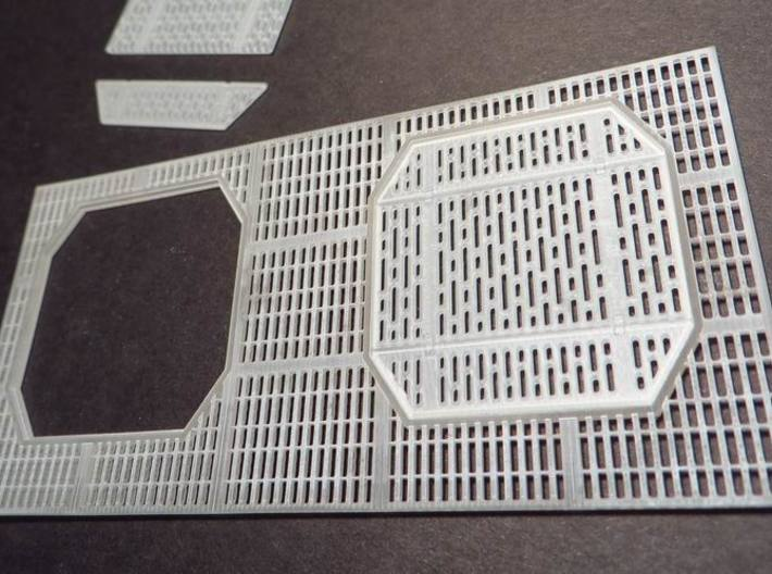 YT1300 DEAGO HALL GRILLE COMPLETE 3d printed Falcon DeAgo hall grilles detail. The octagonal grilles are not included.