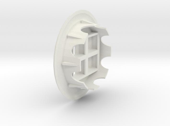 Quad Keystone Jacks In 60mm Desk Grommet 3d printed