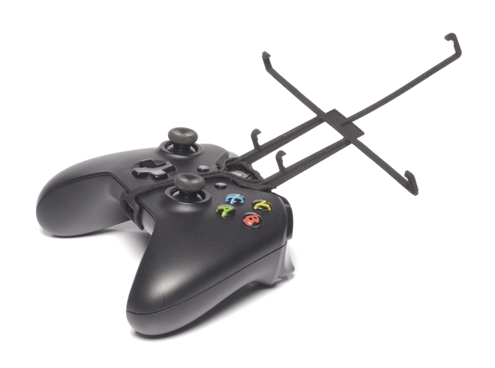 Xbox One controller & Lenovo IdeaTab S6000 3d printed Without phone - A Nexus 7 and a black Xbox One controller