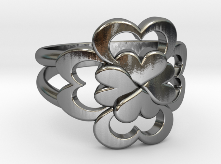 Size 8 Wife Ring  3d printed