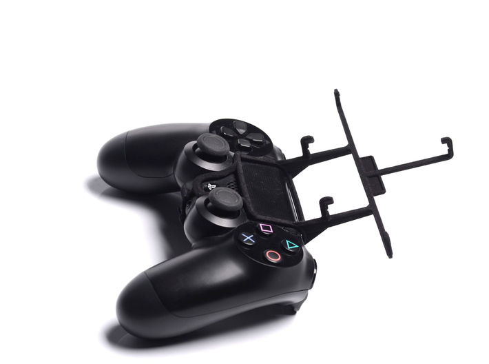 PS4 controller & Archos 50b Helium 4G 3d printed Without phone - A Samsung Galaxy S3 and a black PS4 controller