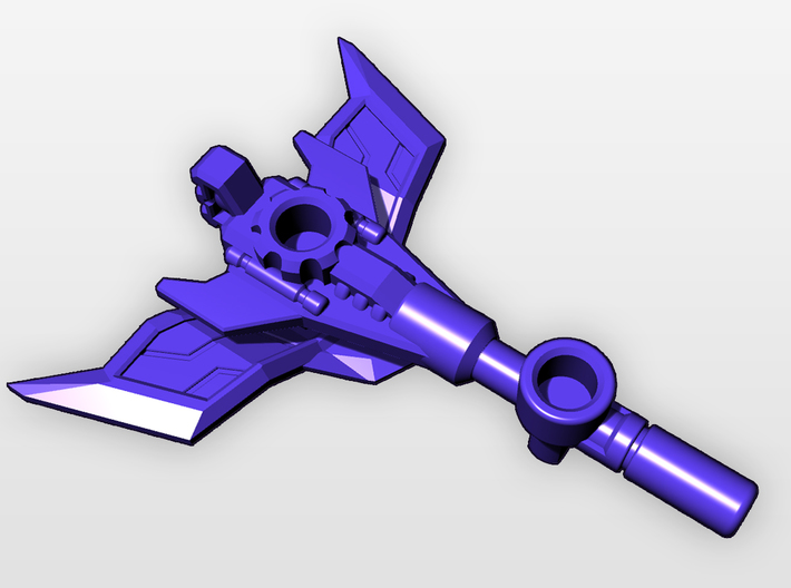 "CW Blackjack Upgrade ""Gun-Axe"" 3d printed"