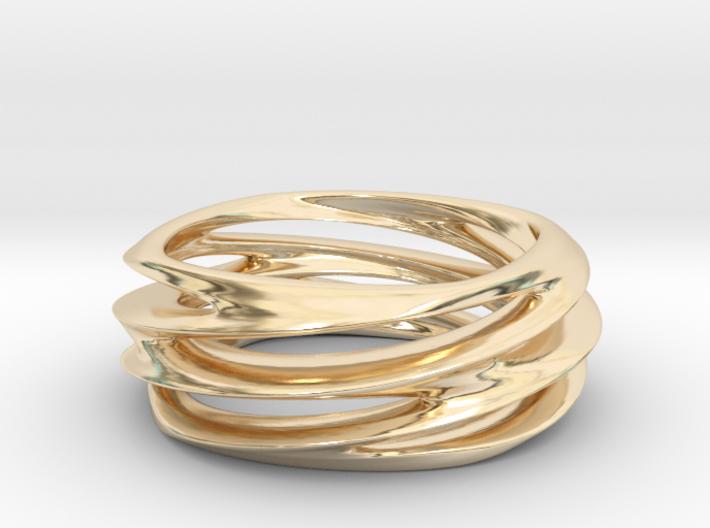 Triple Swirl Size 6 US 3d printed