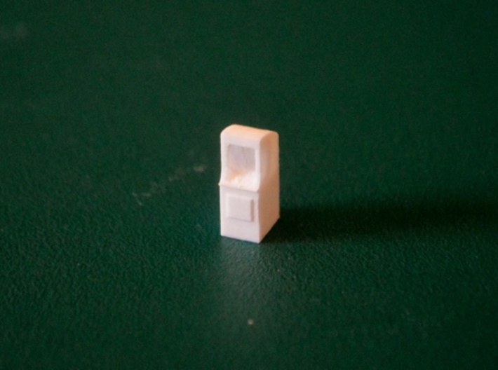 N-Scale Arcade Game 3d printed Unpainted Production Sample