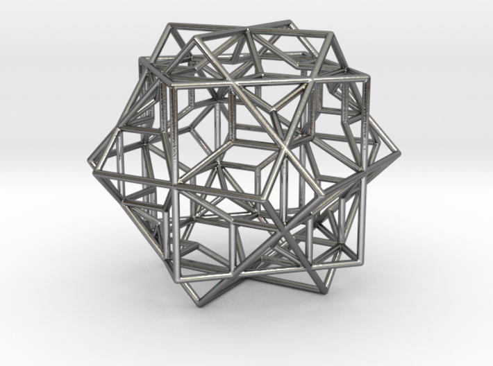 3 Cube Compound, round edges 3d printed