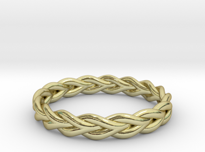 Ring of braided rope - size 7 3d printed