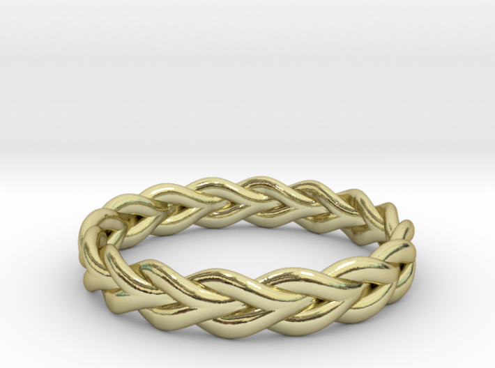 Ring of braided rope - size 5 3d printed