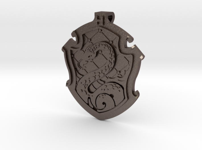 Slytherin House Crest - Pendant SMALL 3d printed