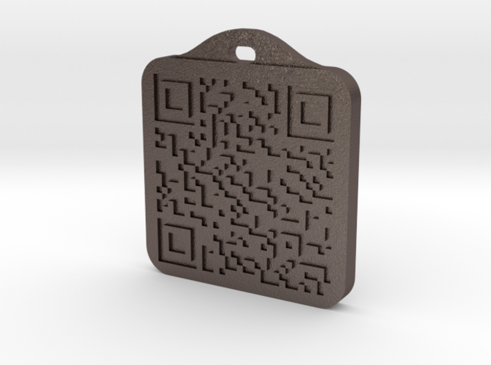 Keychain with Your Own Bitcoin QR code 3d printed