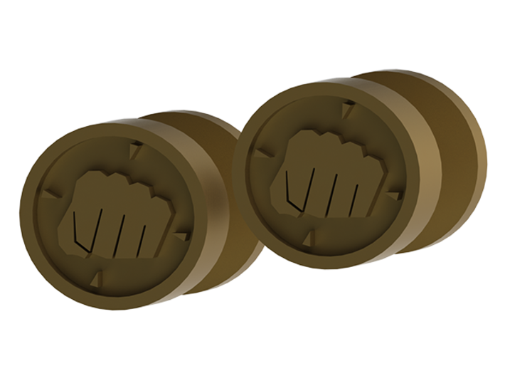 Team Fortress 2 Heavy Cufflink 3d printed