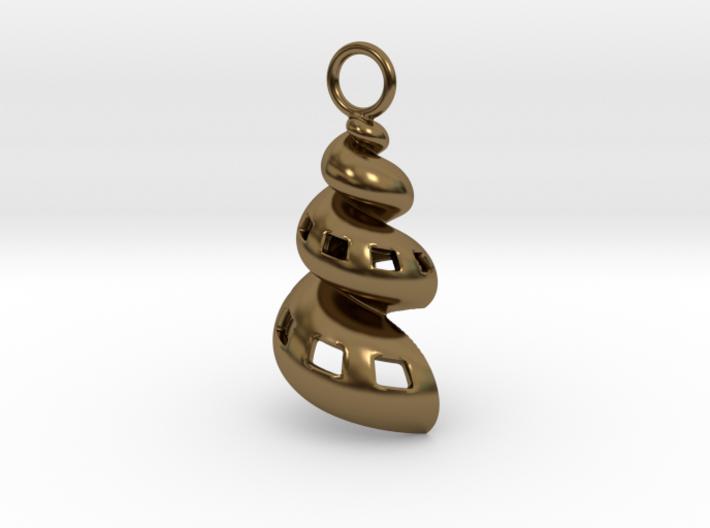 Conic Seashell Pendant 3d printed