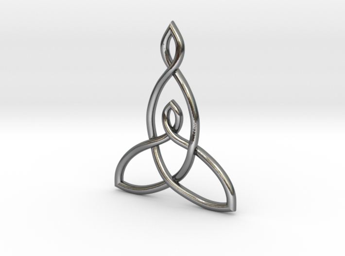 Mother And Child Knot Pendant 3d printed