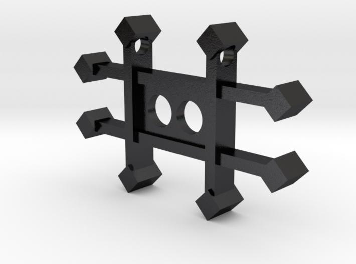 Zinc Alchemy Symbol Pendant  3d printed