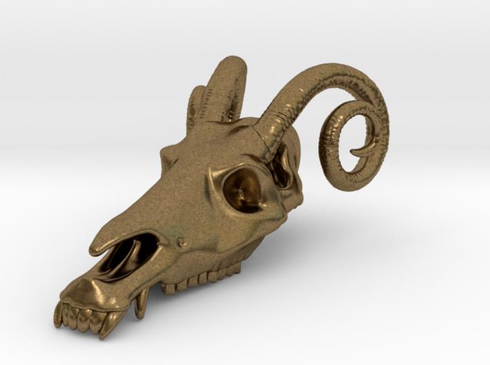 Jersey Devil Skull Pendant 3d printed