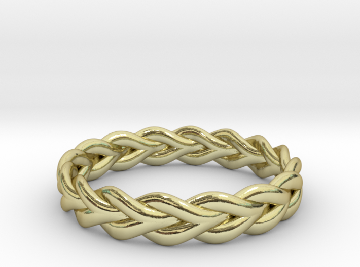 Ring of braided rope - size 4 3d printed