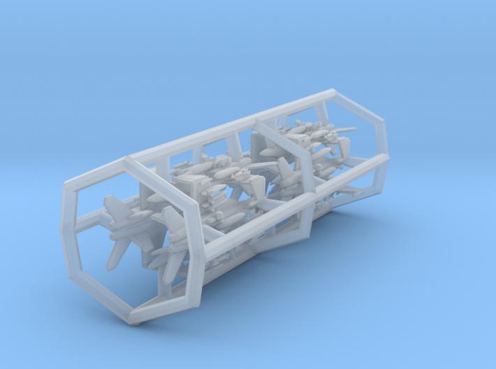 1/700 F/A-18F with Gear x8 (FUD) 3d printed