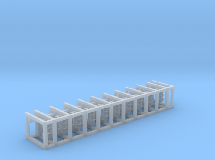 N Scale Traffic Lights SMD (10pc) 3d printed Container with 10 main bodies and rear covers
