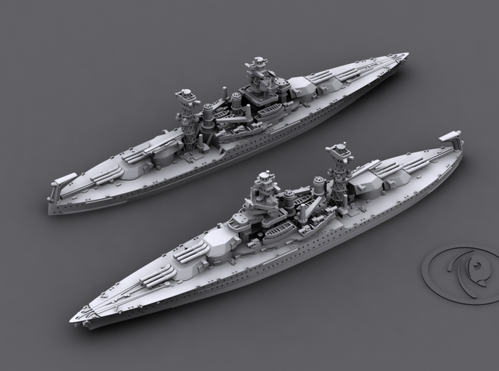 1/4800 US BB Tennessee Class [1941] (1+1) 3d printed BB43 Tennessee[1941]