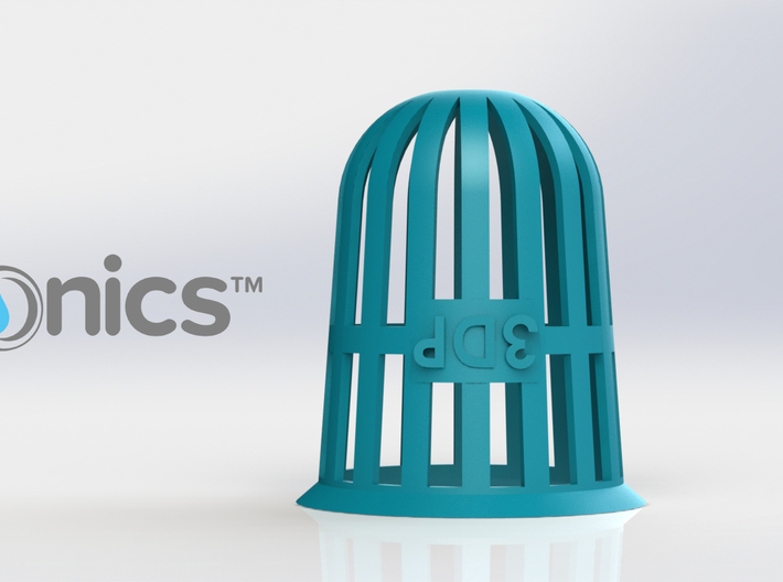Planter (Round) - 3Dponics 3d printed Planter (Round) - 3Dponics Non-Circulating Hydroponics