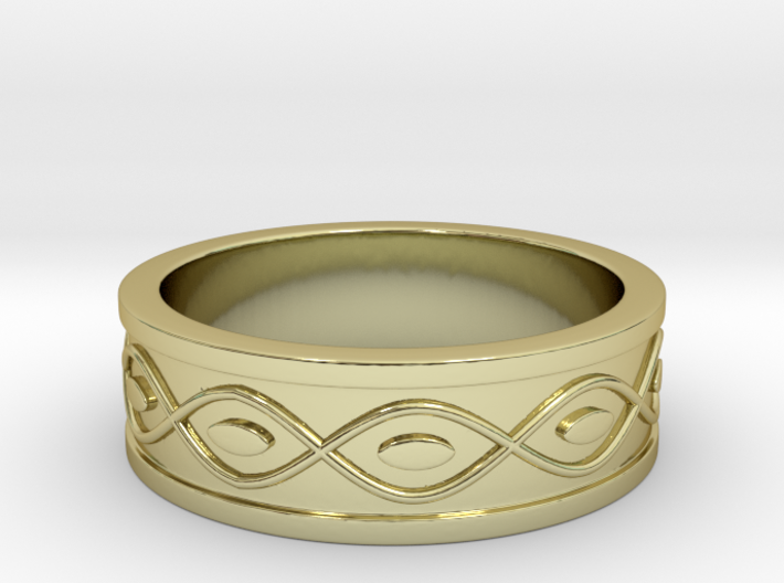 Ring with Eyes 3d printed