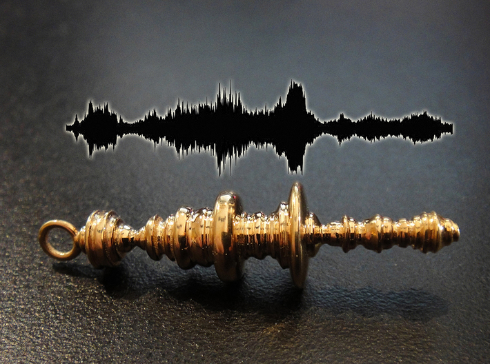 "Elsa singing ""Let It Go"" Frozen, Waveform Pendant 3d printed Sample of a different waveform"