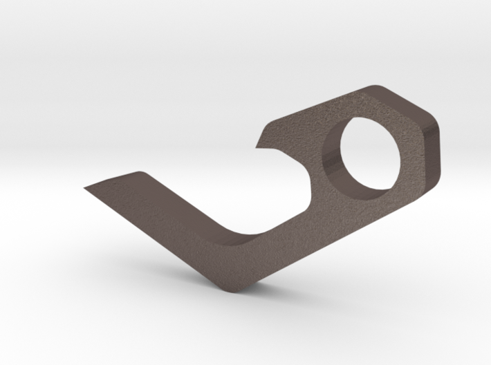 Micro keychain bottle opener 3d printed
